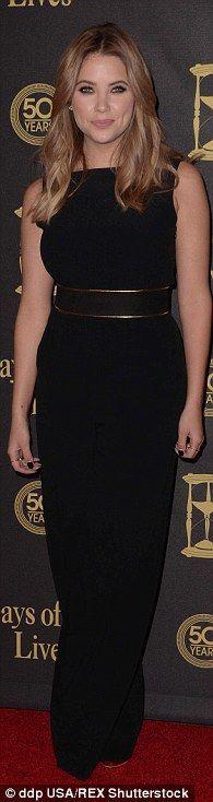 Ashley Benson wearing Stella McCartney Wide Leg Sleeveless Jumpsuit