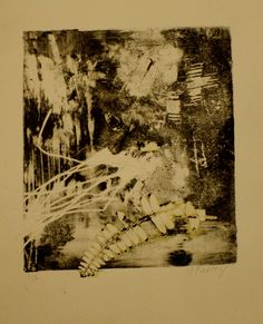 Artist Unknown to me, Monoprint