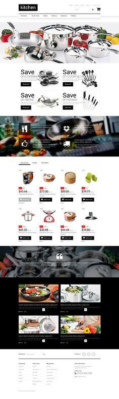 Prestashop-Theme für einen Küchenzubehör Online-Shop