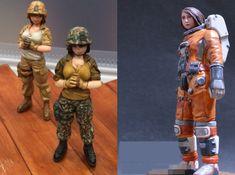 Unpainted Scale 1/20 80mm Astronaut Woman Soldier 80mm Figure Female Figures #Unbranded