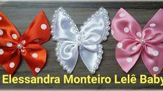 DIY:Borboleta de Cetim!!!Feito com Fita de Cetim|Elessandra Monteiro L...