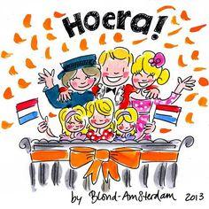 Abdicatie by Blond Amsterdam Blond Amsterdam, Amsterdam Holland, Kat Van D, Queen Wilhelmina, Dutch Netherlands, King Birthday, Kings Day, Dutch Royalty, Dutch Artists