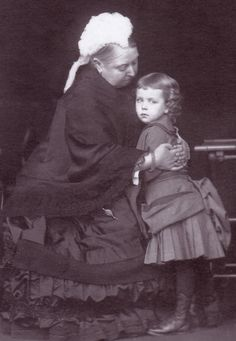 Queen Victoria with her Granddaughter -- Crown Princess Margaret of Sweden