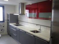 cocina roja kitchen red