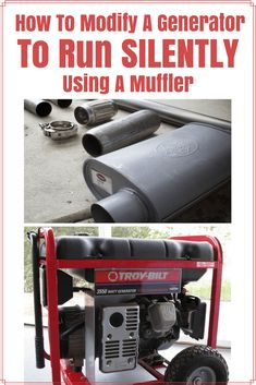 How To Modify Your Generator To Run Silently With A Muffler - How to Tutorials Diy Urban Survival, Homestead Survival, Camping Survival, Survival Prepping, Emergency Preparedness, Survival Gear, Survival Skills, Survival Hacks, Emergency Power