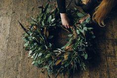 Swallows & Damsons winter wreath