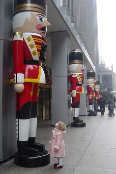 The Nutcracker Statue's At The UBS Building Outside 1325 Avenue of the Americas In New York City