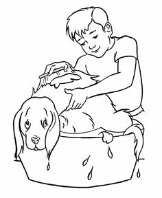 29 Best Kids And Pets Coloring Pages Images Animals For Kids