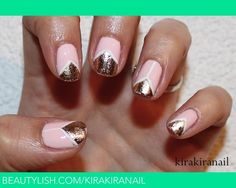 nail foil art | did this nail art for reviewing purposes and I think it turned out ...