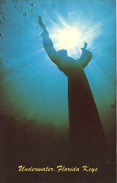 Christ of the Abyss. John Pennekamp Coral Reef State Park, Key Largo, Florida; The Florida Keys, Snorkel Tour, SCUBA dive, Underwater Park, Undersea Park, Reef, dive, beach