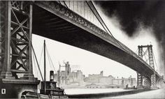 Louis Lozowick, Williamsburd Bridge,1930 - Smithsonian American Art Museum