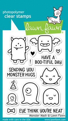 OMG these critters are so monster cute! And monsters are not just for Halloween! And by one of my favourite stamp sources ever, too! | Monster Mash by Lawn Fawn