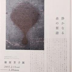 【toshikoiwata】さんのInstagramをピンしています。 《「静かなる森の要請」 篠原芳子展 2017.2.11〜3.20 美濃加茂市民ミュージアム . . ーここにいると、あちらにもこちらにも様々な事柄が私を捉えて呼び込み、誘い、その度にふわふわと私の体を離れて飛んでゆく。魂は、集合することがない感覚。これはとても嬉しいような気持ちのいい状態ではある。我にかえれということを忘れる。自分の世界とが、連なったひとつのものー  ーーーーーーーーーーーー 森の中に潜む、様々なモノたちを捉えて空に放つ、静かに、力強く。彼女の言葉と作品に、心打つ。》