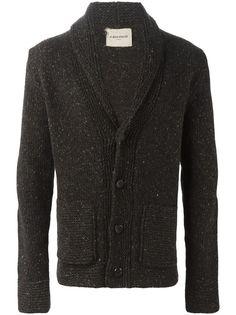 al+duca+d'+aosta+1902+speckled+knit+cardigan+Brown