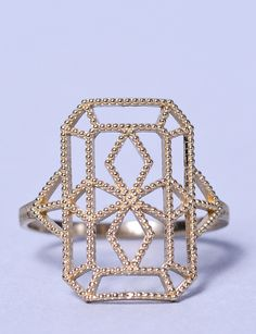 Grace Lee gold lace deco ring VIII at Bird : ShopBird.com