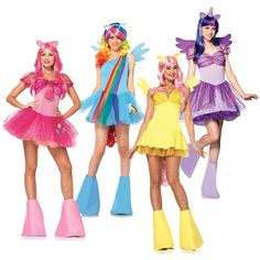 My Little Pony Halloween costumes for women are a great idea for groups of friends or sisters. My Little Pony Halloween costumes are family friendly and can be .
