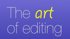 "The art of editing: Five tips to improve your editing performance "" The best graphic and video service for you. http://www.gvcreator.com/ """