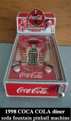 Coca Cola Pinball, 1998 Coca Cola Diner Soda Fountain Pinball Machine