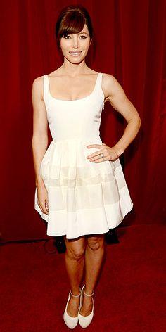 Ballerina style white dress