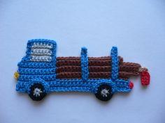 Crochet Applique Patterns Free, Crochet Motif, Baby Knitting Patterns, Knitting Designs, Crochet Appliques, Crochet For Boys, Love Crochet, Crochet Flowers, Scrap Yarn Crochet