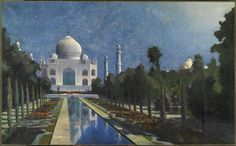 James Rogers Rich, The Taj Mahal, Moonlit, 1900, Harvard Art Museums/Fogg Museum.