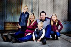 navy and pink / magenta family photo Fall Color Inspiration - navy Family Photos