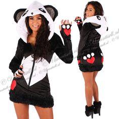 ♥ Party-Kostuums: Sexy Panda Beer Pakje