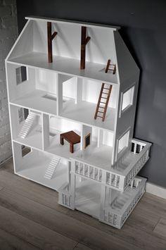 Przepiękny unikatowy domek dla lalek - We_made_it - Domki dla lalek