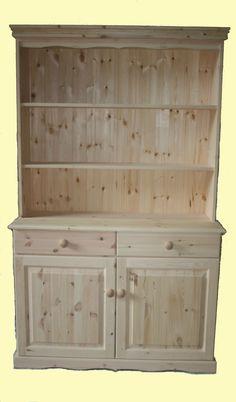 Beautiful 2 door pine welsh dresser: www.pinewelshdresser.co.uk Welsh Dresser, Dressers, Storage Chest, Pine, Doors, Cabinet, Furniture, Beautiful, Home Decor