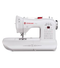 """The SINGER One™ Sewing Machine has an extra large sewing space, three stay-bright LED lights and a heavy duty interior METAL frame. Would love to have this for my """"Simple Fall Sewing"""" project as well as upcoming Christmas projects. Sewing Machines Best, Sewing Machine Reviews, Vintage Sewing Machines, Sewing Hacks, Sewing Crafts, Sewing Projects, Sewing Ideas, Sewing Patterns, Sewing Lessons"""