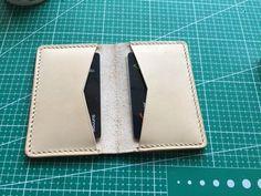 Leather Wallet Pattern, Leather Passport Wallet, Slim Leather Wallet, Handmade Leather Wallet, Billfold Wallet, Leather Craft, Leather Pieces, Cards