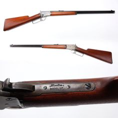 "Gun Of The Day - Marlin Model 1897 Rifle Our gallery visitors often have specific favorites they are seeking while touring the museum. A classic .22 lever-action rifle, like our GOTD can really make someone's day when they see it in an exhibit case. The Marlin Model 1897 rifle was only produced from 1897 to 1922 and about 125,000 were made. This rimfire was made on a handy take-down action and could be ordered with a short 16 inch barrel as the ""Bicycle Rifle."""