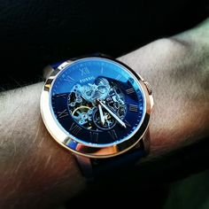luxury watches Fossil Grant Dreihand-Automatikuhr Source by dndartaman Amazing Watches, Beautiful Watches, Cool Watches, Men's Watches, Unique Watches, Male Watches, Fossil Watches Mens, Women's Skeleton Watch, Skeleton Watches