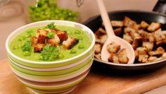 REŢETE: Supă-cremă de mazăre verde Romanian Food, Guacamole, Vegetarian Recipes, Soup, Mexican, Yummy Food, Chicken, Ethnic Recipes, Diet