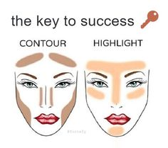 How to contour and highlight follow the directions in the picture and your contour/ highlight will be on fleek