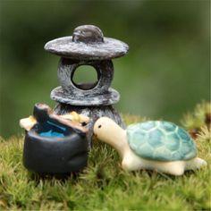 FD1529 new Miniature Dollhouse Bonsai Craft Landscape DIY Flower Decor Sea Turtle #Affiliate