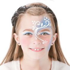 Maquillage Reine des Neiges arabesques