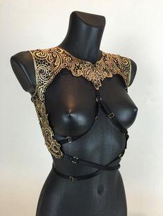 DYNASTY - Gold Filigree Cage Bralette - apparel lingerie, honeydew intimates, honeydew intimates *ad