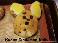 Cinnabunny Rolls (Cinnamon Rolls - made to look like a bunny)