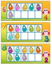 Ten Frame - Numbered - Ten Frame Flash the Math Game