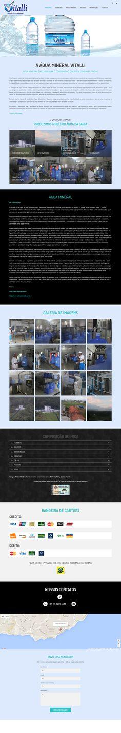 Website Água Mineral Vitalli