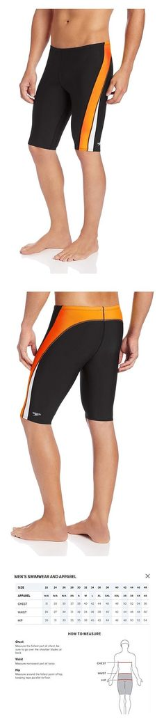 a8db187fa07fd $32.08 - Speedo Men's Endurance+ Launch Splice Jammer Swimsuit Black/Orange  #speedo