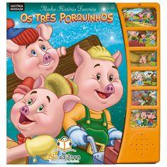 Livro Infantil Minha História Favorita Os Três Porquinhos