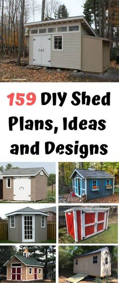 159 Free DIY Storage Shed Plans, Ideas and Designs - Check out our collection of 159 free shed plans that you can use for building your own shed. Lean To Shed Plans, Wood Shed Plans, Free Shed Plans, Shed Building Plans, Building Ideas, 8x12 Shed Plans, Diy Storage Shed Plans, Garden Storage Shed, Storage Sheds