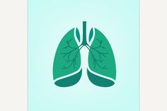 Vector Lungs Icon @creativework247