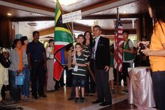 South Africa proudly entered the exam  hall with our flag. 12th PAMA, Thailand. SEMAS Abacus Maths - South Africa. Franchise for sale in South Africa.