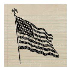 Digital Download Vintage American Flag Graphic by ChangingVases, $1.50