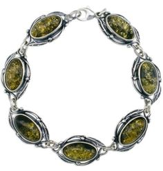Silver Amber Bracelet, Green, Baltic Amber-Oval Green Amber Bracelet AmberDesire. $190.92. Natural Baltic Amber. Save 24%!