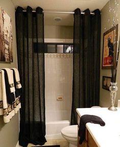 Bathroom Curtain Ideas Shower For Your Narrow Design