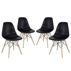 Pyramid Dining Side Chairs Set of 4 Black - Modway Gender: Unisex. Pyramid Dining Side Chairs Set of 4 Black - Modway Outdoor Dining Chairs, Solid Wood Dining Chairs, Upholstered Dining Chairs, Dining Chair Set, Dining Room Chairs, Dining Room Furniture, Side Chairs, Dining Sets, Furniture Design